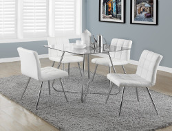 Monarch Specialties Tempered Glass Dining Table