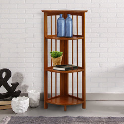 Casual Home 4 Shelf Corner Bookcase