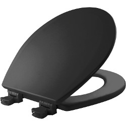Mayfair Black Round Wood Toilet Seat
