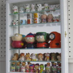 Small Wall Curio Cabinet Display Case White