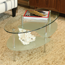 Walker Edison Oval Coffee Table