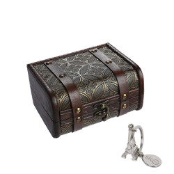 Sicohome Small Wooden Trunk