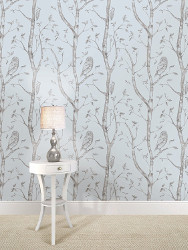 Wall Pops Blue Woods Peel and Stick Wallpaper