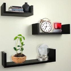 Greenco Floating U Shelves