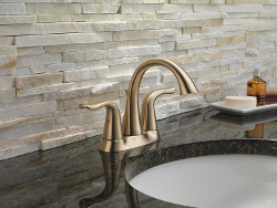 Delta Two Handle Faucet, Champagne Bronze