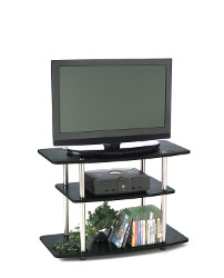 3-Tier Black TV Stand
