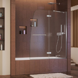 DreamLine Frameless Hinged Clear Glass Tub Door