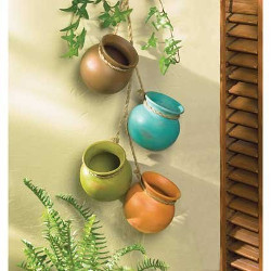 Decor Hanging Mini Pots Southwest Mexican