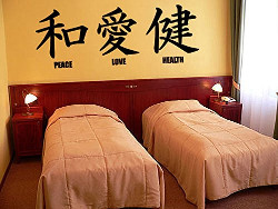 Japanese Peace, Love, Health Wall Decal Sticker