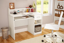 Axess Collection Desk in Pure White