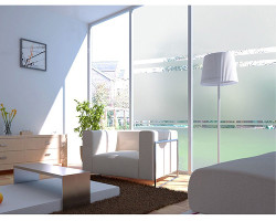 DuoFire Stained Privacy Glass Static Window Film