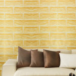 SimpleLife4U Yellow Brick Pattern Removable Wall Art