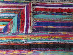 Hand loomed India Rag Rug Floor Mat