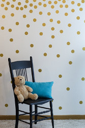 Gold Wall Decal Dots