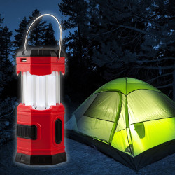 LED Solar Waterproof Camping Lantern with Hook