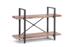 O&K Furniture 2-Tier Bookcase Industrial Style