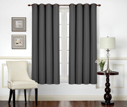 Utopia Bedding Blackout Curtains Grey