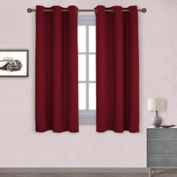 NICETOWN Blackout Curtains Burgundy Red