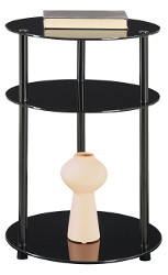 Convenience Concepts Round Glass Side Table