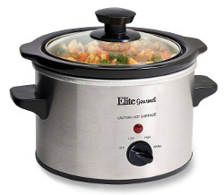 Elite Gourmet 1.5 Quart Slow Cooker Silver