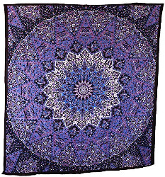 Popular Handicrafts Blue Purple Mandala Tapestry