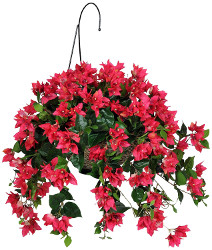 House of Silk Flowers Artificial Bougainvillea Hanging Basket