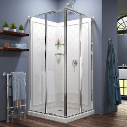 Dreamline Corner Sliding Shower Enclosure Chrome